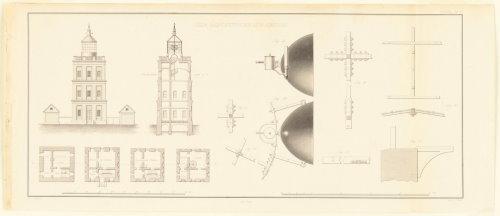 Kap Arkona (Entwurf: Karl Friedrich Schinkel, 1827) (aus R.G. Grant: »Wächter der See«, S. 48)